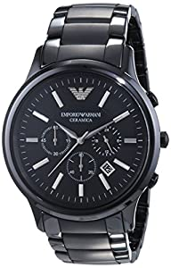 Emporio Armani AR1451 - Reloj cronógrafo de cuarzo para hombre, correa de cerámica color negro marca Emporio Armani