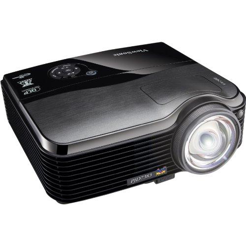 Viewsonic - PJD7383 - Projecteur DLP - Compatible 3D - 3000 ANSI lumens - XGA (1024 x 768) - 4:3 - Objectif fixe de courte portée
