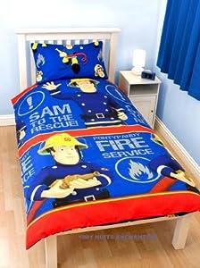parure de lit housse de couette taie sam le pompier cuisine maison. Black Bedroom Furniture Sets. Home Design Ideas