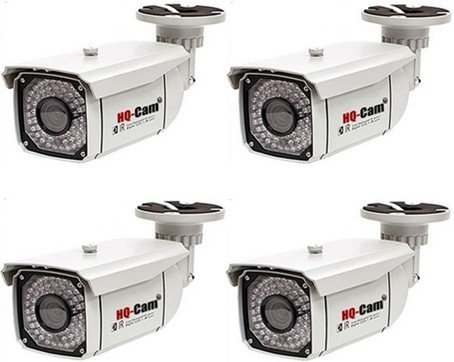 """Hq-Cam® 4 Packs Cctv Home Video Outdoor Ccd Bullet Security Camera - 550 Color Tv Lines Sony Super Had Ii Ccd 1/3"""" Sony Super Had Ii Ccd Build-In 48Ir Infrared Leds 2.8-12Mm Vari-Focal Lens Outdoor/Indoor Weatherproof And Vandalproof Day Night Vision For"""