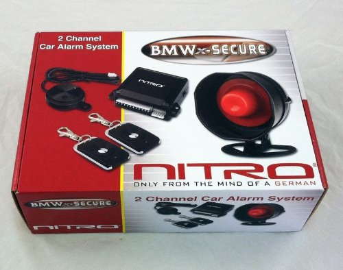 Nitro BMW-SECURE 2 Channel Car Alarm System With 2 Remote Controls [Electronics]