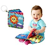 Baby Kid Child Lamaze Discovery Cloth Book Crinkle Squeaky Rattle teraproof by Happy Toys