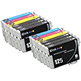 E-Z Ink (TM) Remanufactured Ink Cartridge Replacement For Epson 125 (6 Black, 2 Cyan, 2 Magenta, 2 Yellow) 12 Pack