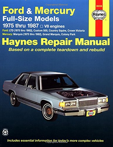 Ford And Mercury Full-Size, 1975-1987 (Haynes Manuals) front-474212