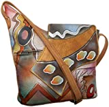 Anuschka 257 Flap Bag,Abstract Twilight,one size