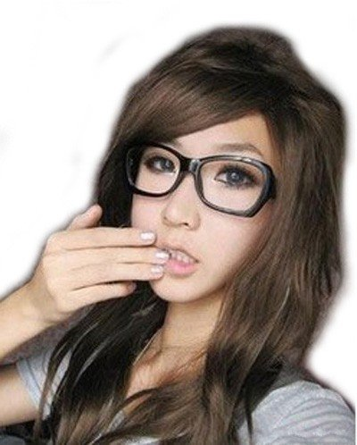 Girls' Long Natural Curly Wig (Dark Brown) (Model: Jf010250)