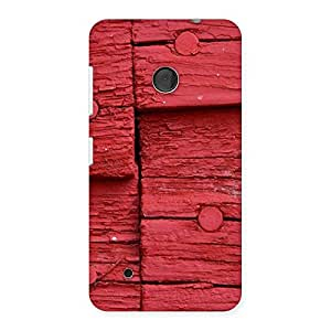 Ajay Enterprises Nailed Red Wood Back Case Cover for Lumia 530