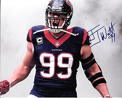 J J Watt Houston Texans Autographed Signed 8x10 Photo - COA - Mint Condition