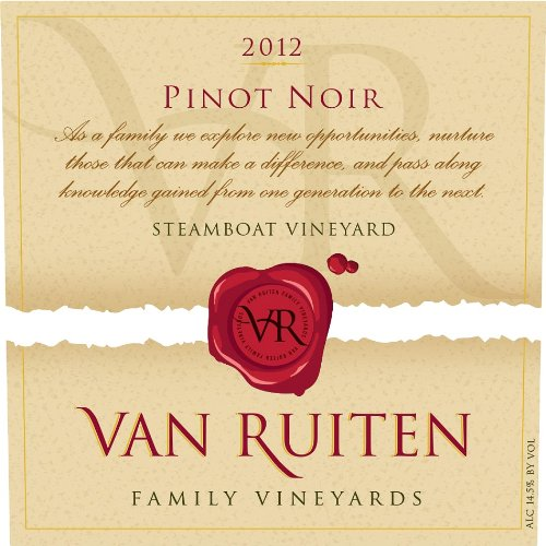 2012 Van Ruiten Family Vineyards, Steamboat Vineyard, California Pinot Noir 750 Ml