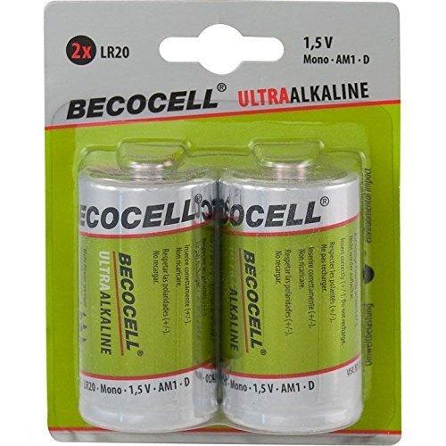 Becocell de piles lR20 mono ultra-alcaline sous blister 1,5 v