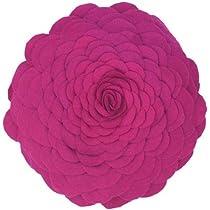 Pink Floral Felt Pillow