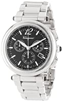 Salvatore Ferragamo Men's F77LCQ9909 S099 Poema Polished Stainless Steel Black Chronograph Date Watch by Salvatore Ferragamo