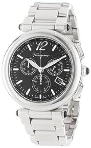 Salvatore Ferragamo Men's F77LCQ9909 S099 Poema Polished Stainless Steel Black Chronograph Date Watch by Salvatore Ferragamo