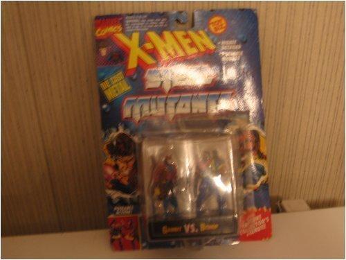 Gambit Vs. Bishop Die-cast Metal Action Figures - Marvel Comics X-Men Steel Mutants