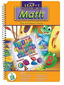 "LeapPad: Leap 1 Math - ""Birthday Hunt"" Interactive Book and Cartridge"