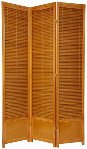 Louvered Door Design, 7-Feet Shutter Style Folding Privacy Screen Room ...