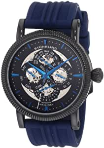 Stuhrling Original Men's 150DR.3356C1 Symphony Maestro III Automatic Skeleton Day, Date, Month, and 24 Hour Time Indication Watch