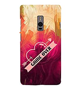 Game Over Cute Fashion 3D Hard Polycarbonate Designer Back Case Cover for OnePlus 2 :: OnePlus Two :: One +2