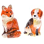 Fox and Dog Salt Pepper Set