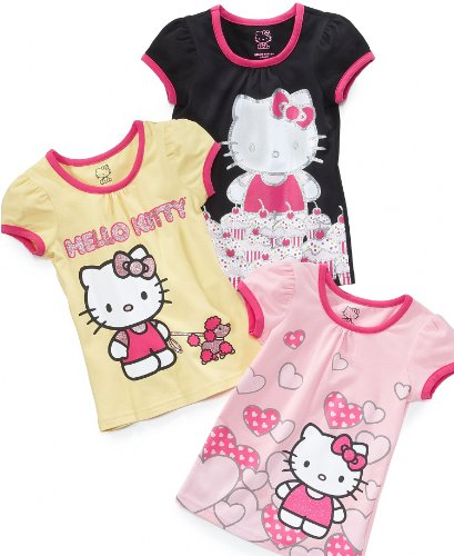 Hello Kitty Girls Shirts, Little Girls Graphic Tees Pink 6