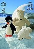 King Cole Sprinkles Penguin, Polar Bear & Seal Toys Knitting Pattern 9006