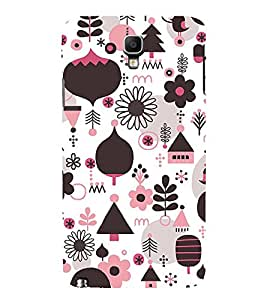 Floral Design Wallpaper 3D Hard Polycarbonate Designer Back Case Cover for Samsung Galaxy Note 3 Neo N7505