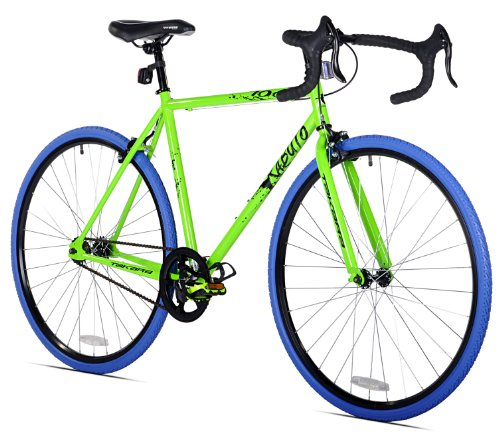 Takara Kabuto Single Speed Road Bike, 700c, Green/Blue, Medium/54cm Frame