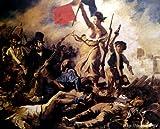 ドラクロワ 「民衆を導く自由の女神」 原画同縮尺近似(50号) delacroix-03-08