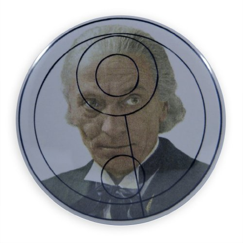 "Doctor Who First Doctor ""One"" in Gallifreyan Pinback Button"