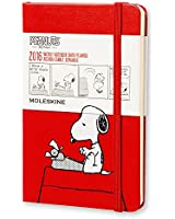 Moleskine 2016 Peanuts Limited Edition Weekly Notebook, 12M, Pocket, Scarlet Red, Hard Cover (3.5 x 5.5)