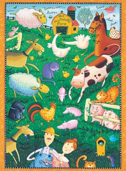 Old McDonald's Farm 36 Piece Puzzle