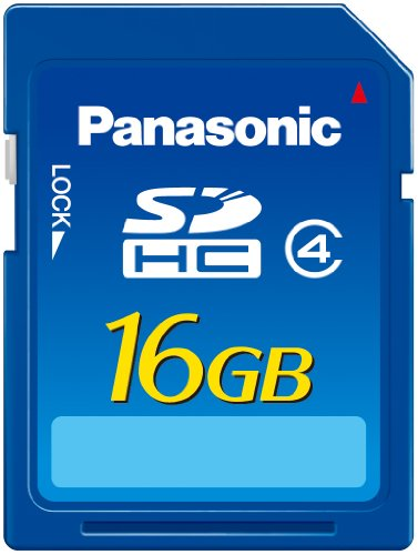 Panasonic 16 GB Hi Speed 15MB/s SDHC Class 4 Memory Card with Water/Shock/Magnet/X-Ray Proof P-SDN16GU1A
