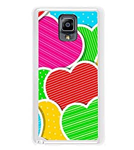 Multi Colour Hearts 2D Hard Polycarbonate Designer Back Case Cover for Samsung Galaxy Note 3 :: Samsung Galaxy Note III :: Samsung Galaxy Note 3 N9002 :: Samsung Galaxy Note N9000 N9005