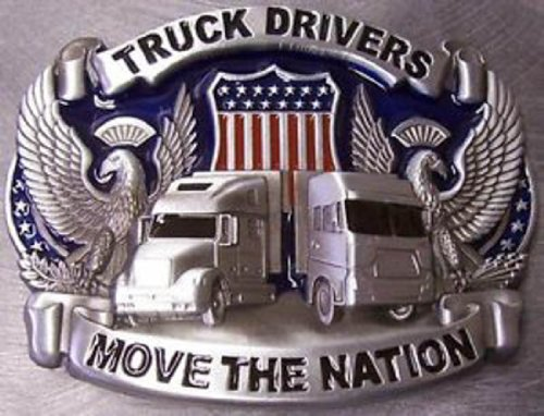 Pewter Belt Buckle Truck Drivers Move Nation N