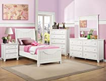 Hot Sale Homelegance Alyssa 5 Piece Kids' Panel Bedroom Set In White