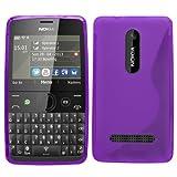SAMRICK - Nokia Asha 210 & Asha 210 Dual Sim - Etui Gel Hydro - Rose (Pink), Gel, violet, 111,5 x 60 x 11,8