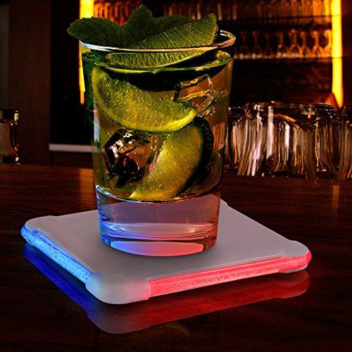 Color Changing LED Square Drink Coaster