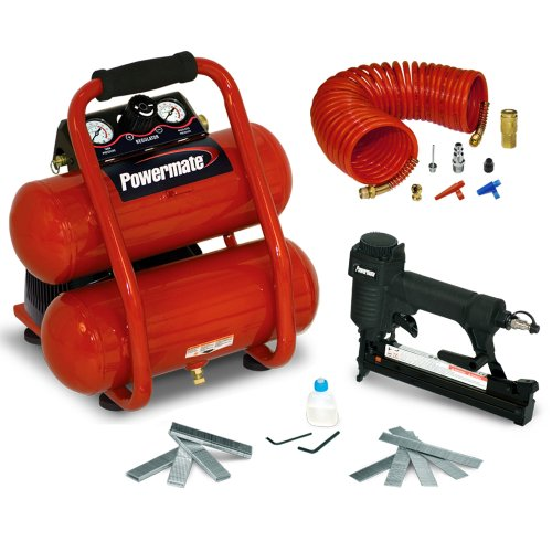 Powermate VSP0000201 2-Gallon Side Stack Air Compressor with Extra Value Kit