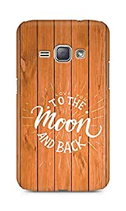 AMEZ love you to the moon and back Back Cover For Samsung Galaxy J1 (2016 EDITION)