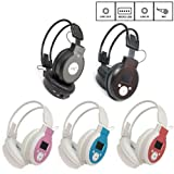 Fashion LCD Foldable Wireless Headphone Headset FM Radio TF Card Sport MP3 Player MIC