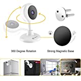 Wireless Smart Camera, MiSafes Indoor Monitors 360 Cam WiFi Camera Baby Pets Monitor Remote Home Security IP Cameras 2 Way Video with 720p HD, 120° View for iPhone iPad Samsung HTC LG Sony (White)
