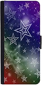 Snoogg White Stars 2378 Graphic Snap On Hard Back Leather + Pc Flip Cover Sam...