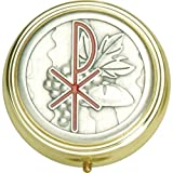 Holy Spirit Pyx with First Holy Communion Grapes Gold and Silver Tone