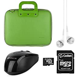 SumacLife Cady Collection Durable Semi Hard Shell Protective Carrying Case w/ Removable Shoulder Strap (Green)