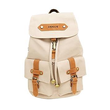 Vintage Casual Canvas Backpack Shoulder Bag Rucksack 116