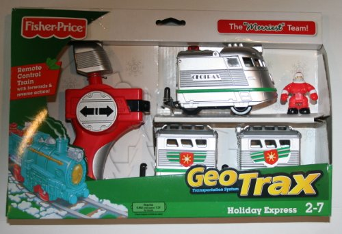 Fisher Price EXCLUSIVE Geotrax Transportation System the Merriest Team Holiday Express Remote Control Train with Santa Figure (Geotrax Figures compare prices)