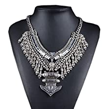buy Btime Women'S Fashion Rhinestone-Studded Collar Sweater Necklace