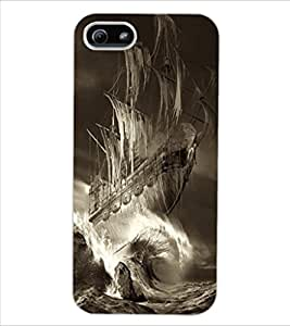 ColourCraft Ship Design Back Case Cover for APPLE IPHONE 5