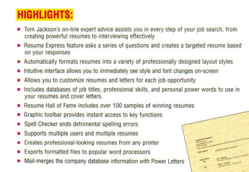 Perfect Resume Tom Jackson Shop. Tom Jackson Presents :The Perfect Resume' ...