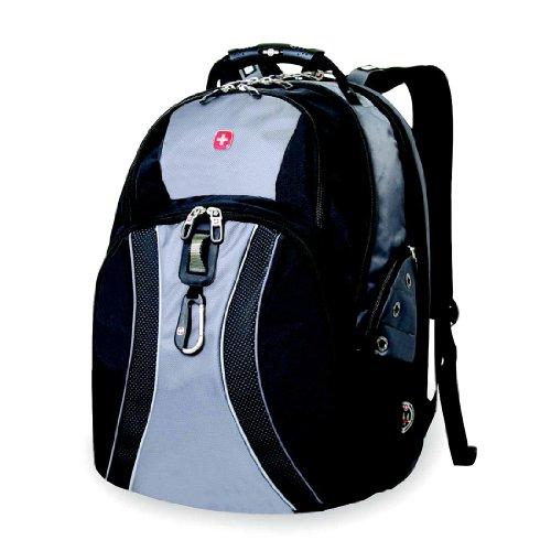 Green Ace Swissgear Scansmart 17'' Laptop / Notebook Backpack - Gray